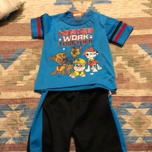 Toddler 2 piece shorts outfit. Paw patrol